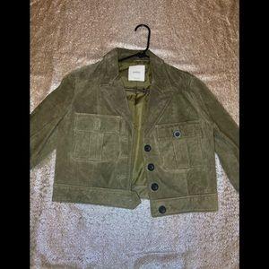 NWOT-MANGO Suede jacket
